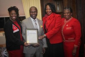 Presentation of Human Trafficking Proclamation by Mayor Mapp