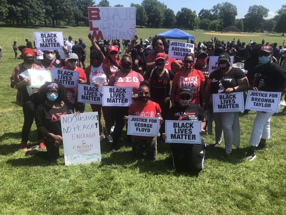 CJA Deltas at Black Lives Matter March