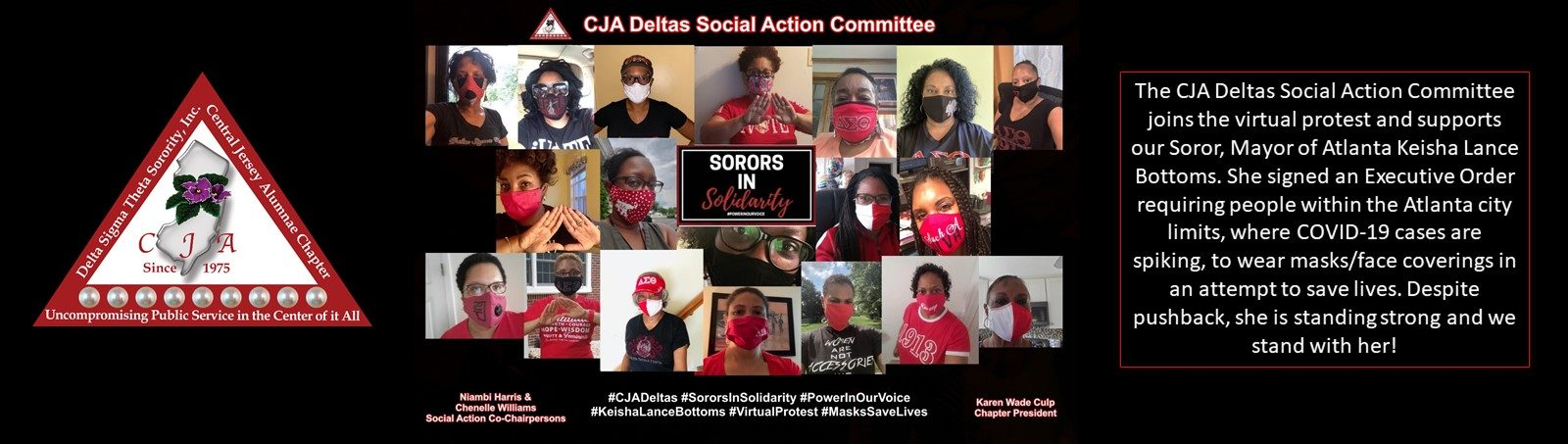 Sorors in Solidarity - pictures of Sorors wearing masks