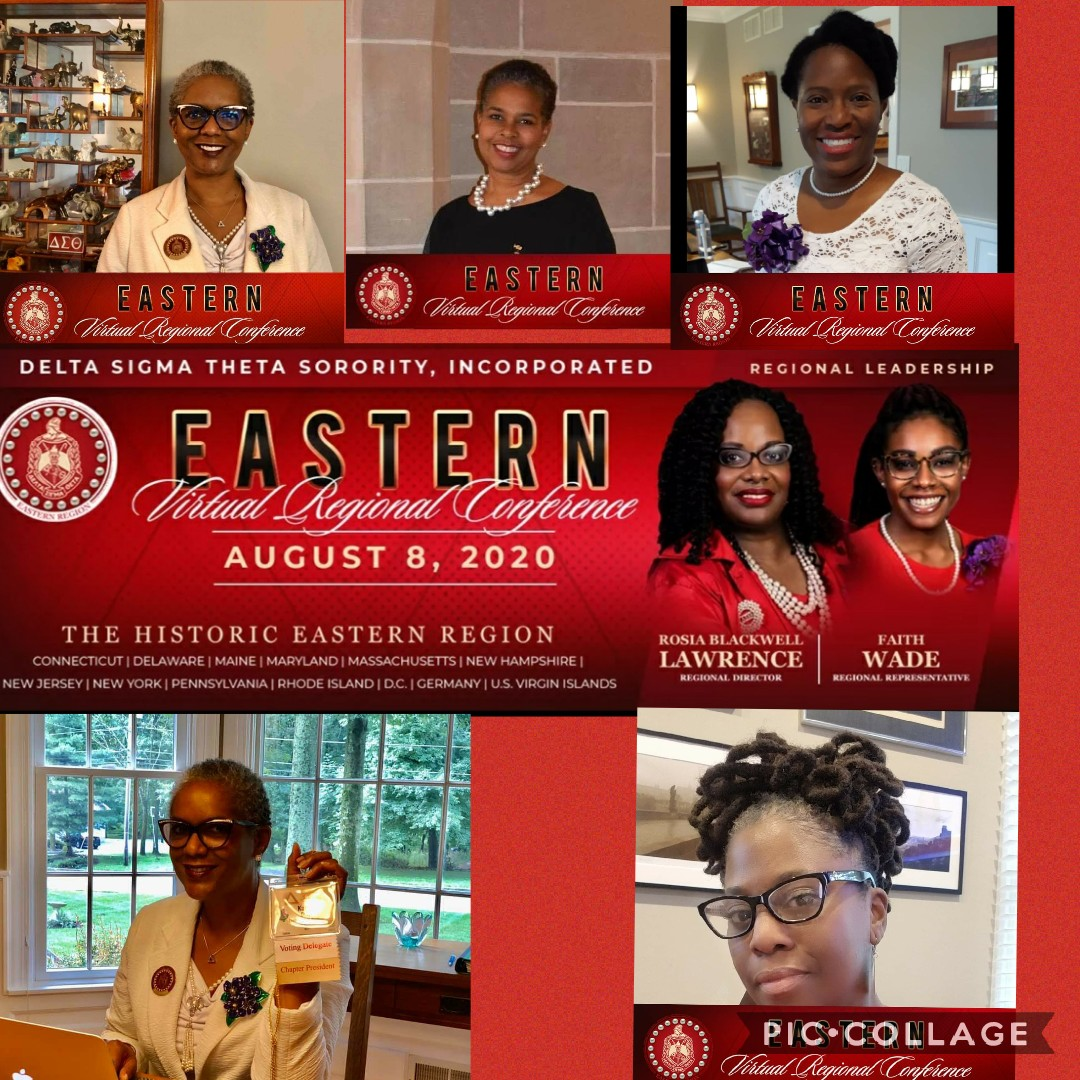 Collage of Sorors at Virtual Eastern Regional Conference - 9