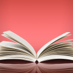 Open book with pages spread