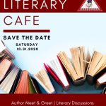 literary cafe save the date flyer - oct 31, 2020