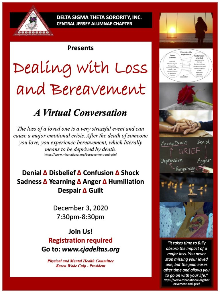 Dealing with Loss and Bereavement Flyer