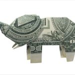 Elephant made of money