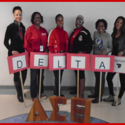 Education committee team members with Delta