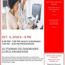 Autoimmune event flyer