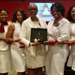 Chapter receives Social Action award at 54th National Convention in 2019